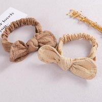 Hair Accessories Cotton Baby Headband Elastic Ear Turban Super Soft Infant Head Wrap Born Top Knot JFNY234