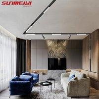 Track Lights Modern Lighting Systems Set Aluminum Magnetic For Ceiling Rail Led Living Room Deco Surface Mounted Spotlight