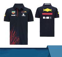 2020 Nuovo prodotto Tide Brand Team F1 Attiltura a maniche corte Vestita da corsa in poliestere Asciugatura a rapida Asciugatura T-shirt T-shirt Polo con lo stesso cus
