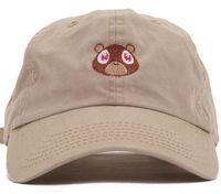 Baba şapka Kanye West Ye Bear Beyzbol Şapkası Moda Yaz Erkek Kadın Snapback Unisex Özel Serbest Hip Hop Sıcak Stil Şapkalar