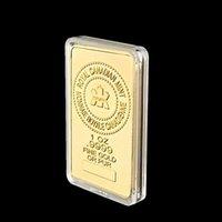 Craft en métal 1Oz Bar à plaqué or et badge composite Maple Leaf pure 999.9 Collection de pièces commémoratives