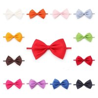Adjustable Pet Dog Bow Tie Dog Tie Collar Flower Accessories Decoration Supplies Pure Color Bowknot NecktieT2I52419
