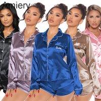 Женские спящие кусок ночной одежды наборы хороших топов сна дни роскошные дышащие элегантные женщины одежда A125