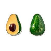 새로운 도착 크리 에이 티브 아보카도 수제 에폭시 925 스털링 실버 쥬얼리 성격 귀여운 녹색 과일 스터드 귀걸이 SE75 472 B3
