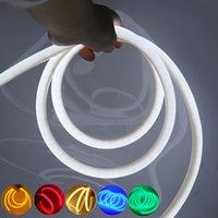 Striscia al neon 220V impermeabile 360 gradi illuminazione rotonda bianco / bianco bianco / rosso / rosso verde rosa 2835 120 LED / m Strip Light