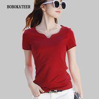 BOBOKATEER Летняя футболка Tee Femme Ropa Mujer Verano 2021 Короткая рукава Топы Хлопок Плюс Размер Женская Одежда 210311