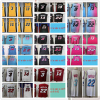 2021 New Yellow 3 Dwyane 22 Jimmy Wade Butler Jerseys Black Blue City 14 Tyler 13 Bam Herro Adebayo Kendrick Nunn Jerseys Shorts