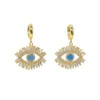 Ультрамодный 18K позолоченный турецкий злой глаз ожерелье счастливый девушка подарок багет кубический цирконий бирюзовый Geomstone высочайшее качество злые эй