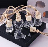 Araba Parfüm Şişesi Cam Dekorasyon Çanta Kolye Için 8 ml Parfüm-Süsleme Hava Spreyi-Esansiyel Yağlar Difüzör Koku FWA9086