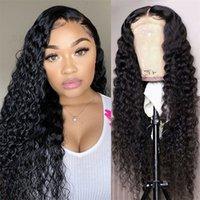 Alinybeauty 180 Density 13x4 13x6 Deep Wave Hd Lace Frontal Wig Human Hair 4x4 5x5 Lace Closure Wigs