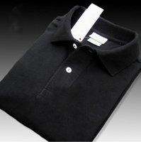 Haute qualité Crocodile Polo Shirt Hommes Solide Wash Water Coton Shorts Summer Homme T-shirts Mens Polos Chemises Poloshirt # 02