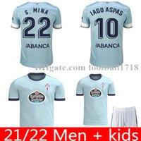 Homme Kit Kit 22 RC Celta de Vigo Soccer Jersey Lobotka Iago Aspas Santl Mina Shirt de football Sisto Boufal Camiseta Futbol Kits Ensembles