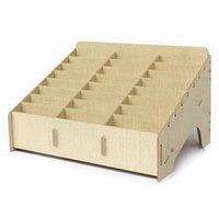 Storage Boxes & Bins Multifunctional Wooden Box Desktop Office 24 Grid Rack Mobile Phone Repair Tool Motherboard Display Accessories