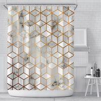 Nuevo nuevo cortina de ducha Cortas de impresión digital creativas cortinas de poliéster a prueba de agua Cortina de cortina cortina de sombrilla Cortas de ducha EWE6584