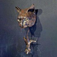 Gato y ratón puerta aldaba escultura oxidado marrón hierro fundido pared resina ornamento accesorios casero jardín decoración artesanía 210607
