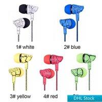 DHL-freie Verschiffen-Kopfhörer in Ear-Crack-kabelgebundener Kopfhörer-Mic-Stereo-3,5-mm-Leitungs-Kontroll-Kopfhörer für universal-Smartphone mit Kleinkasten