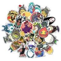 Fridge Magnets 50pcs Miyazaki Hayao Anime Sticker My Neighbor Totoro Spirited Away For Skateboard Bicycle Laptop Suitcase Waterproof