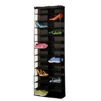 Одежда Шкаф для хранения 26 Карманов PVC Анти-пыль Стойка для обуви Складной Водонепроницаемый Обувь Организатор Висит Запаперо
