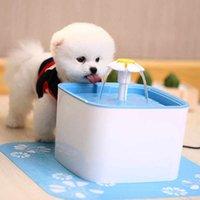 2021 Fuente de agua para mascotas para gatos y perros con filtro de silicona MAT para la fuente de agua del gato Dispensador automático de agua para mascotas, azul