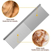 beauty tools Pet Dematting Comb Stainless Steel Grooming for Dogs Cats Gently Removes Loose Undercoat Mats Tangles and Knots