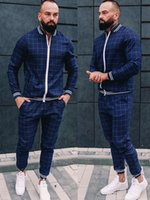 2021 Automne Hommes Messieurs Tracksuit Hommes Sportswear Male Support Pull Casual Two Piece Ensembles