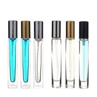 مصغرة إعادة الملء العطور رذاذ زجاجة زجاجة شفافة 10ML البخاخة المحمولة السفر فارغة مستحضرات التجميل حاوية زجاجات النفط الأساسية