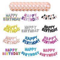 Party Decoration Birthday Decorations Kids Baby Adult HAPPY Balloons Aluminium Film For