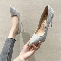 Dress Shoes Luxury Straight High Heels Light Color Women's Thin Heels 2021 Bridmaid Wedding Pointed Party