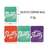 Runtz OG Mylar Bag White 3.5g Purple Red Cyan Zipper Smellproof Childproof Dustproof Storage for Dry Herb Flower Tobaccos cigarettes