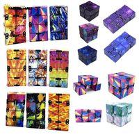 DHL FRee Infinity Magic Cube Creative Galaxy Fitget toys Antistress Office Flip Cubic Puzzle Mini Blocks Decompression Toys FJ11