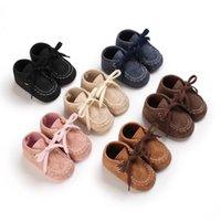Bebê primeiros caminhantes andando sapatos meninos meninas garotas calçados primavera outono mocassins couro macio sapato recém-nascido casual B7358