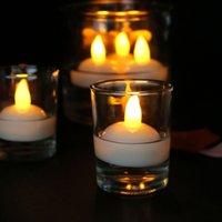 12шт плавающие водные светодиодные чайные свечи батареи питание водонепроницаемый светодиодный светодиодный свет для спа бассейна