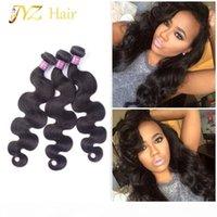 JYZ Brasileño Body Wave Virgin Hair 3pcs Lot Malasian Virgin Hair Weave Bundles Calidad superior Peruian 100% Remy Human Hair 3pcs Extension