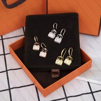 Boucles d'oreilles en pierre Sac Design pour femme Beauté Beauty Studs Earons Femme Fête Fête Cadeau Headrop 3 Couleur Top Qualité