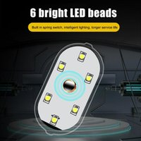Car Headlights Roof Ceiling Dome Reading Lamp USB Charging Mini Night LED Lights Atmosphere Induction Wiring-Free Auto Interior Accessories