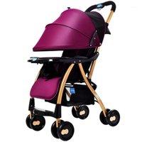 Tek düğmeli katlanır bebek arabası ışık ve kullanışlı şemsiye araba oturup kış yaz arabası1