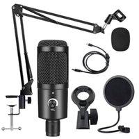 360 ° Universal Desktop Casa de escritorio Cantilever Stand Live Broadcast K Songs USB Condenser Micrófono Conjunto de soporte para juegos de PS4