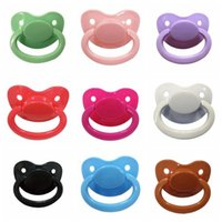Carriers, Slings & Backpacks 1PCS Adult Baby Pacifier Big Size Silicone Nipple Solid Color Lovely Food Grade Bulk Parent-child Toys