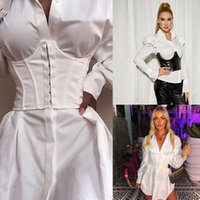 Belts Black,White Simple Corset Tops Summer Spring Fashion Breathable Wide Waist Belt Patchwork Chest Support For Womens