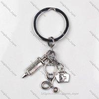 2021 Box Key Chain Needle Stethoscope Keychain Mens Womens Fashion Lady Female Unisex commute