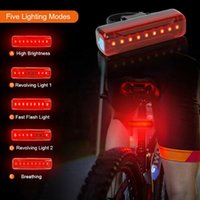 Bike Lights USB Rechargeable Headlight Front Rear Tail Lamp 1000LM LED Warning Safety Intelligent Riding Light Waterproof