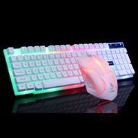 Keyboard Mouse Combos USB Cable And For Computer, Game, Rainbow LED Backlight, Home Office