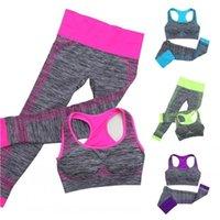 Yoga Outfit 2021 Women's Set Women Sports Crop Tops + Legging Capri Pant Tracksuit Fitness Gym Running Clothes 2pcs
