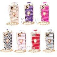 Luxury Handmade Bling Shinning Full Diamond Glass Phone Cases For iPhone 13 Pro Max 12 mini 11 xr xsmax 7 8 plus Girls Gifted Rhinestone Ring Holder CellPhone Case Cover