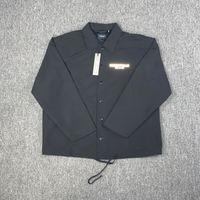 Qualität Hohe Nebel Angst vor Gott Essentials Button Single Breasted Jacke Windjacke Männer Frauen Casual Street Mantel Frühling Herbst Outwear