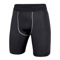 Wholesale-Quick Dry Men Base Layer Cycle Tight Skin Compression Sport Shorts Basketball Running TQ1