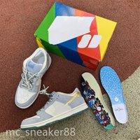 Sean Cliver x Nike SB Dunk Low 2021 رجل إمرأة تشغيل أحذية مصمم شون cliver x sp dunks منخفضة لامعة الذهبي الفضة الساتان الدانتيل رمادي دونك سكيت الرياضة رياضية حجم 36-45