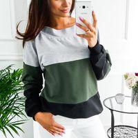 Women's Hoodies & Sweatshirts Lace Up Bandage Long Sleeve Sweatshirt Hoodie Loose Casual Tops Tee Shirt Pullovers Femme 2021