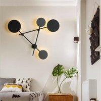 Lâmpada de parede ArtPad 4 cabeça rotatable preto cinza montagem de cabeceira luz nórdica pós-moderna 38W 48w sala de estar SConces LED acessórios