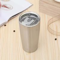 20 oz taza de café taza de acero inoxidable aspirador aislado vaso grande capacidad amplia boca cerveza tazas vino cristal viaje coche coche agua botella vt1191